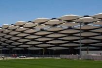 Exterior of Basra football stadium
