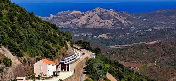 Corsica and Bastia view