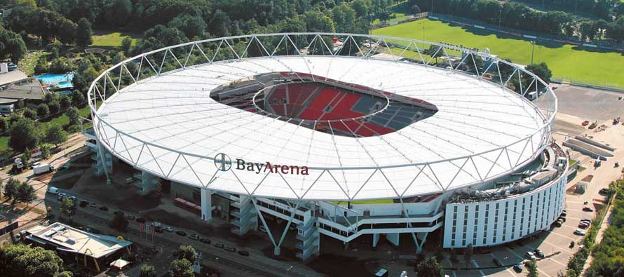 Bay Arena as seen from above