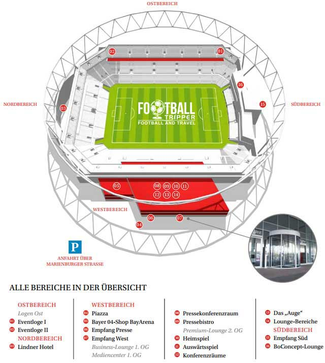 BayArena seating plan