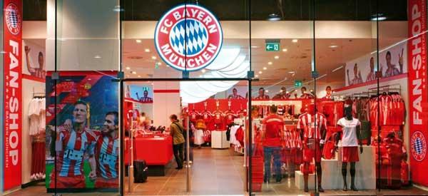 Exterior of Bayern Munich club shop