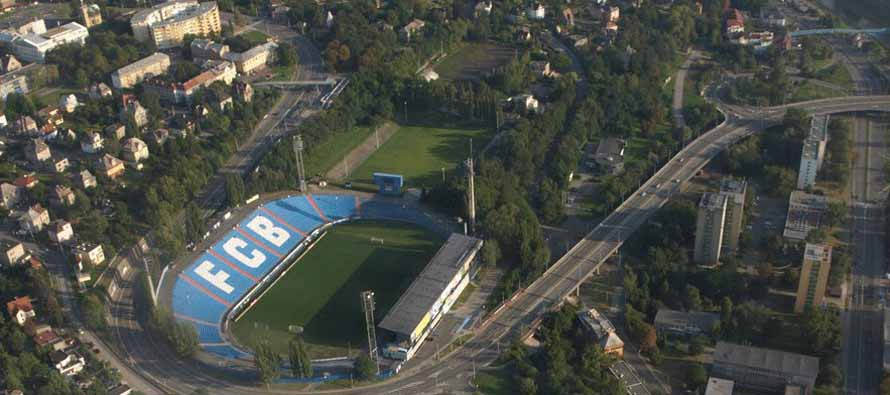 Aerial view of Bazaly Stadium