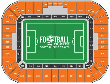 BBVA Comapass Stadium Seating Plan