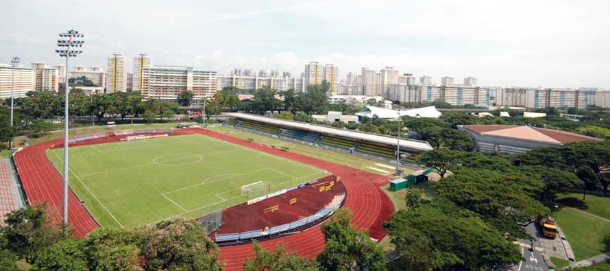A view overlooking Bedok Stadium