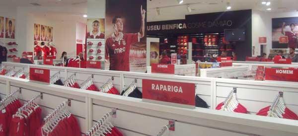 Inside Benfica club shop