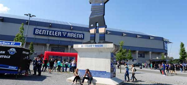 Benteler Arena exterior.