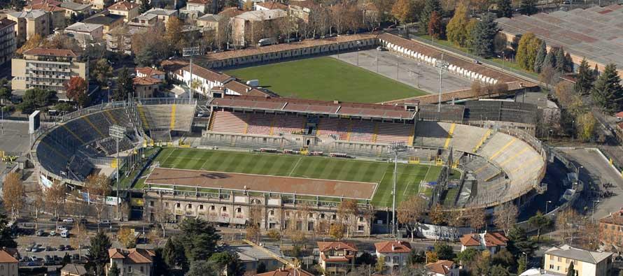 Aerial view of Stadio Atleti D'Azurro
