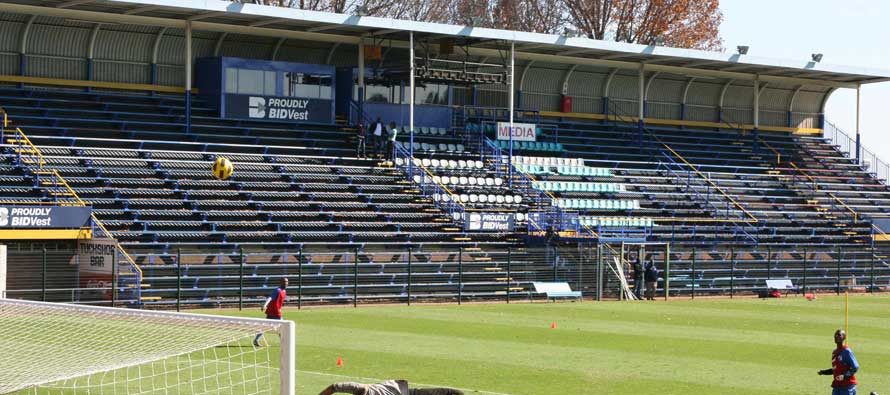 The main stand of the Bidvest Stadium