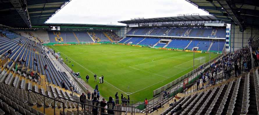 Inside Bielefeld alm stadion