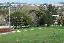 pitch view Bill McKinlay Park stadium