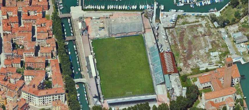 Aerial vieww of Stadio Pierluigi Penzo