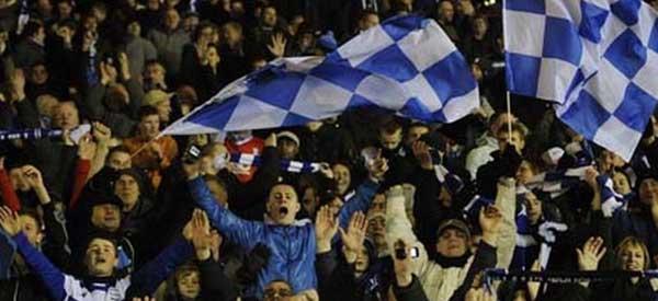 Birmingham supporters inside the stadium