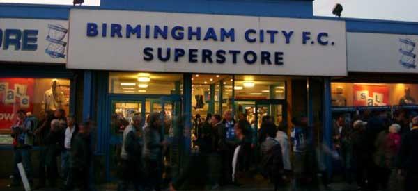 Exterior of Birmingham club shop