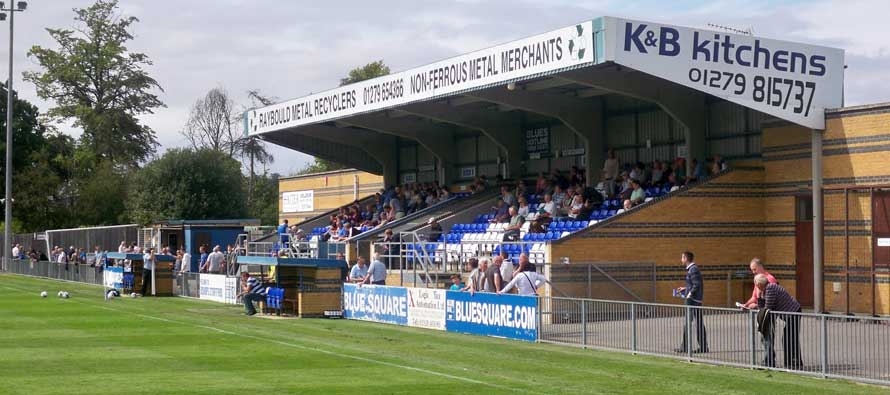 The main stand at Bishop Stortford