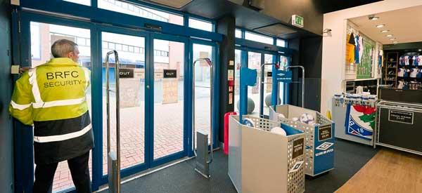 Interior of Blackburn club shop