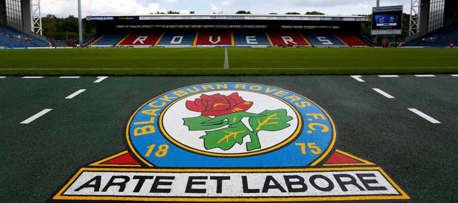 Blackburn Rovers badge inside Ewood Park