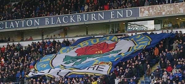 Blackburn supporters inside the stadium
