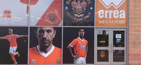 Exterior of Blackpool FC