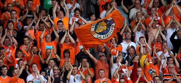 Blackpool United supporters inside the stadium