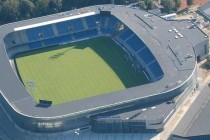 Aerial view of Blue Water Arena