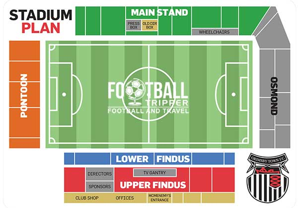 Blundell Park Seating Map