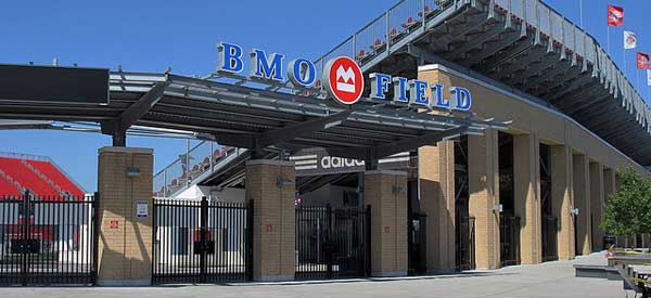 One of the many entrances to BMO Field.