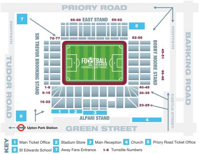 Upton Park Seating Plan