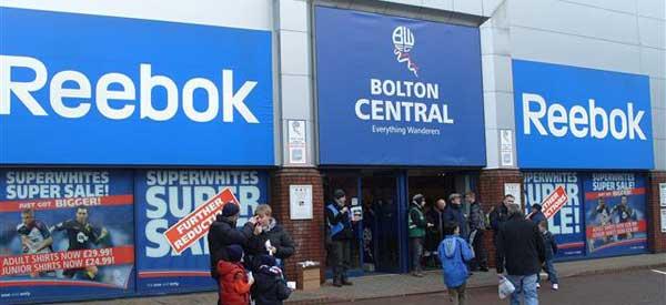 Exterior of Bolton club shop