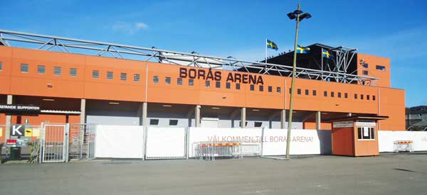 Outside Boras Arena