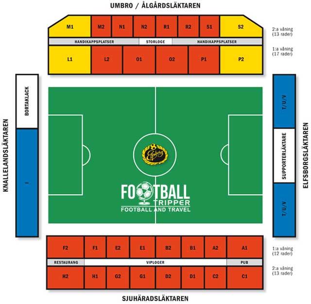 Borås Arena seating chart