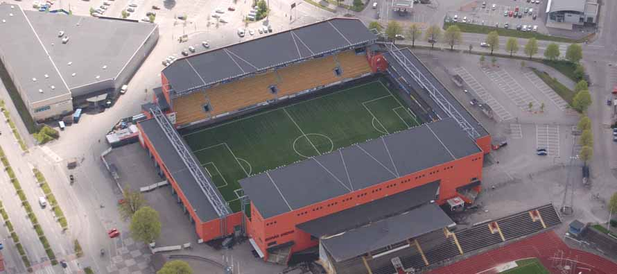 Aerial view of Boras Arena