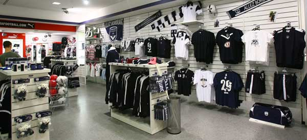Interior of Bordeaux Club Shop