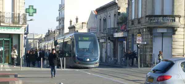 A tram in Bordeaux