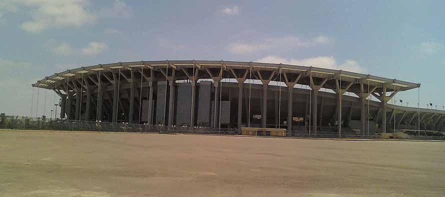The exterior of Borg El Arab Stadium