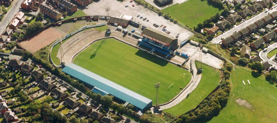 Aerial view of sutton borough sports ground