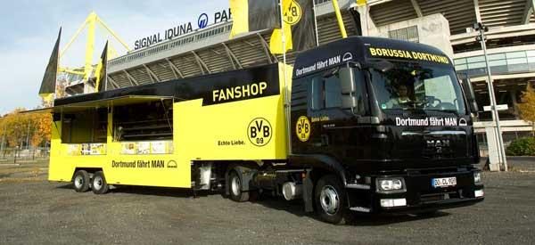 Borussia Dortmund merchandise truck