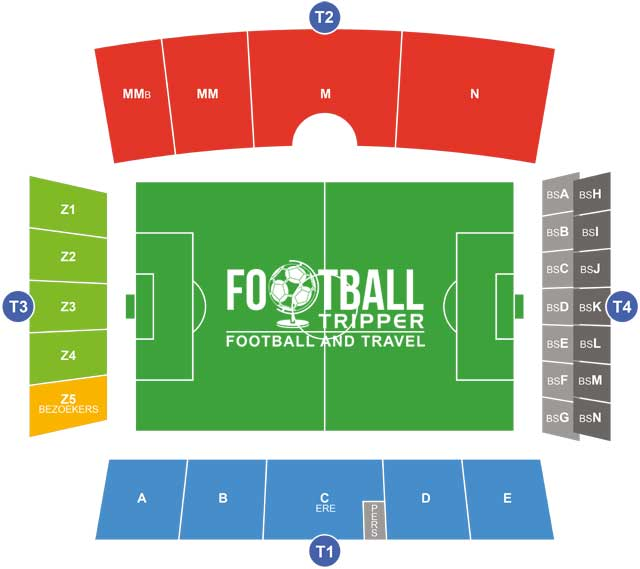 Bosuilstadion Antwerp Seating Plan