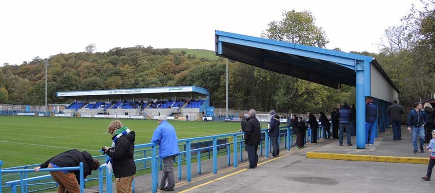 Inside Bower Fold Stadium