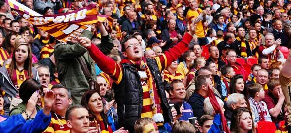 Bradford fans inside the stadium
