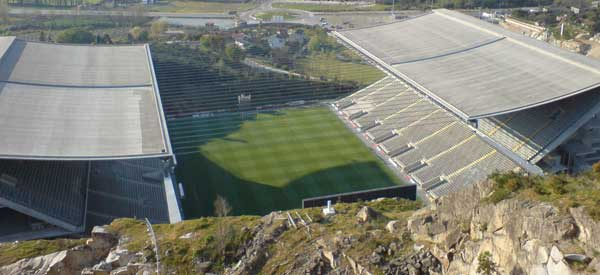 Estadio Municipal Braga Quarry view