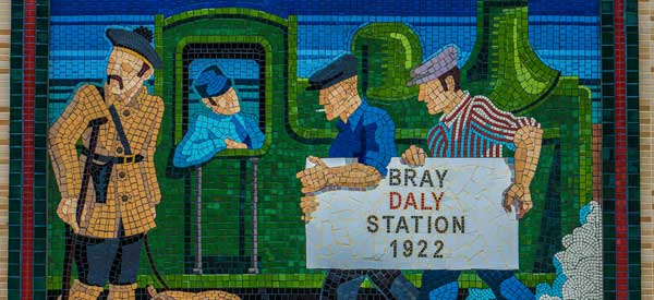 One of the many brilliant murals located on the platforms at Bray Daly Station.