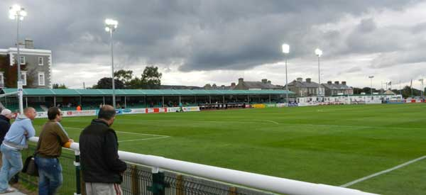 Bray Wanderers supporters inside the stadium