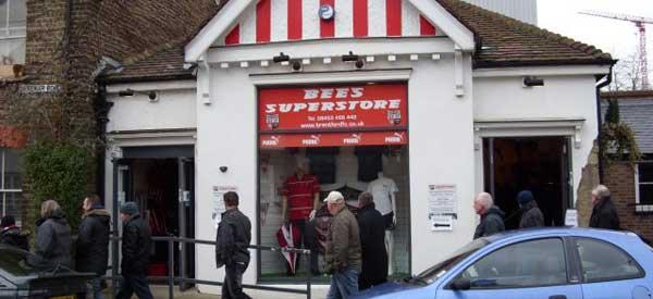 Exterior of Brentford FC club shop