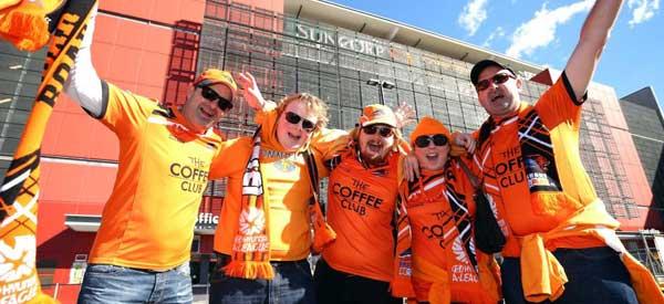 Brisbane Roar Supporters Outside the stadium