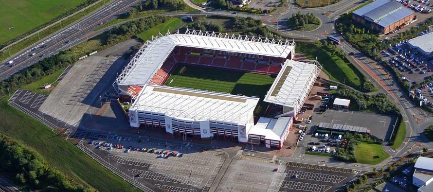 Exterior of Britannia Stadium