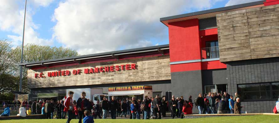 Exterior of FCUM's broadhurst Park ground
