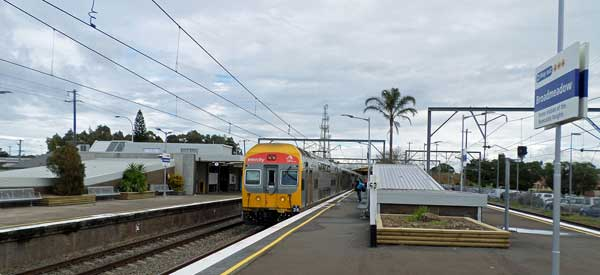The main platform for Broadmeadow Station which is the closest to The Jets' Stadium