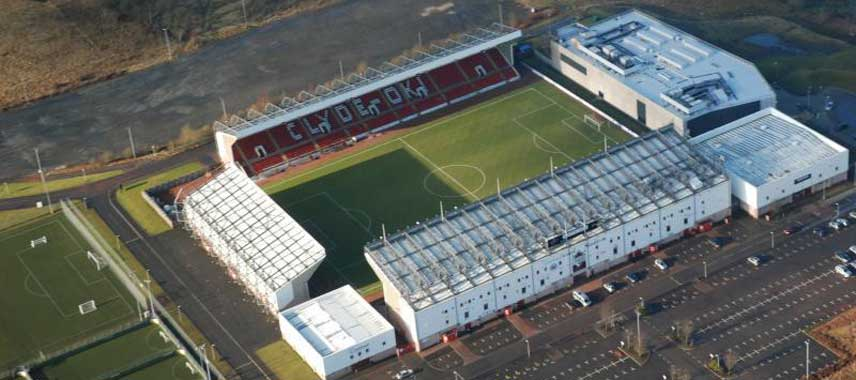Aerial view of Broadwood Stadium