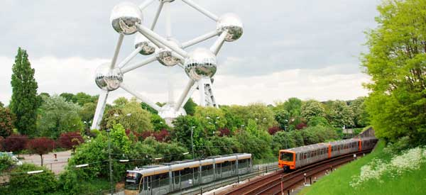 Atomium next to Heysel Stadium