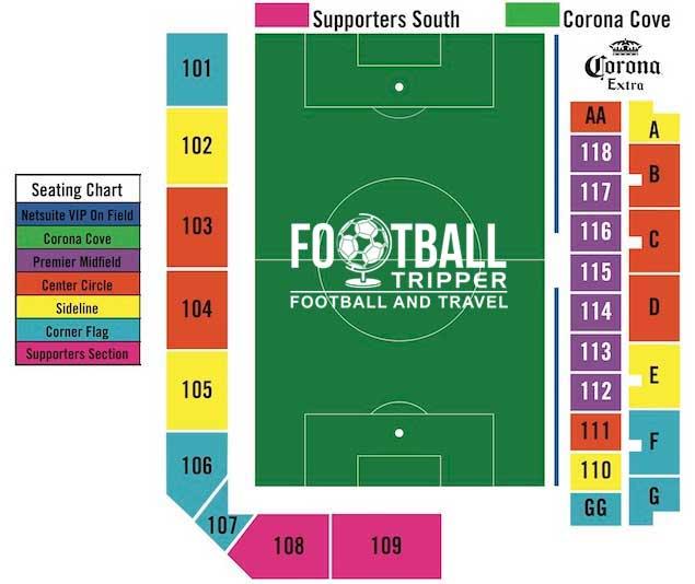 Buck Shaw Stadium Seating Plan